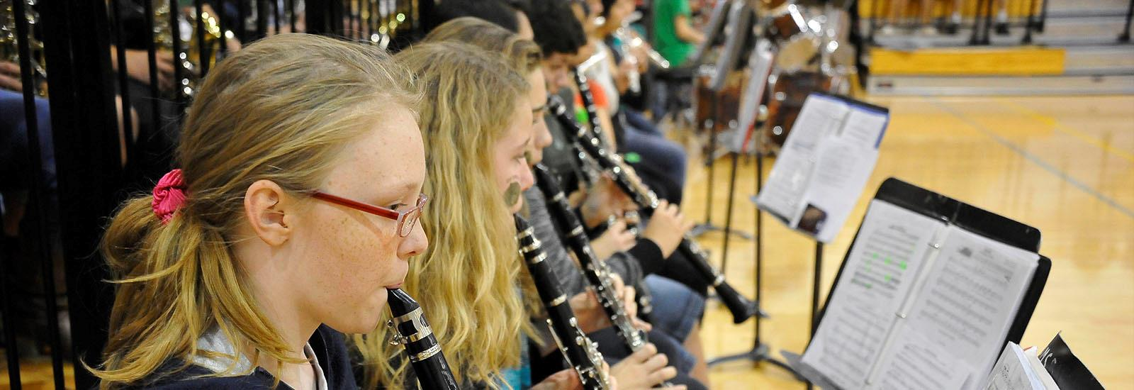 Our band gives students the chance to develop and express talents.