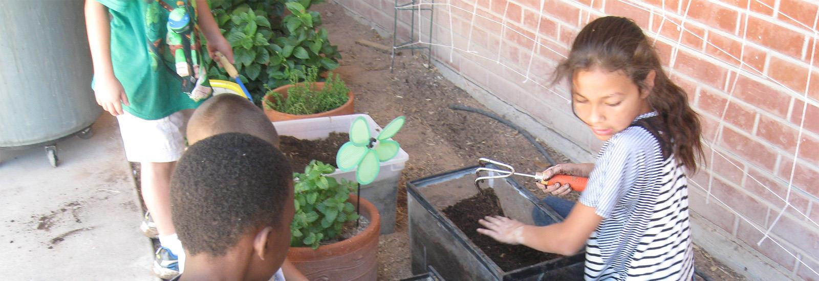 Active learning includes gardening.