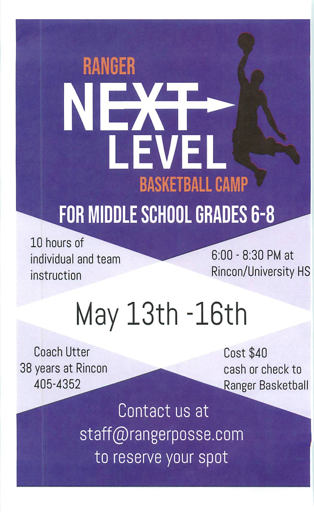 Ranger Next Level Basketball Camp