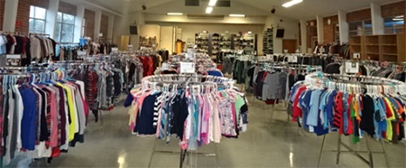 Photo of Interior of Clothing Bank