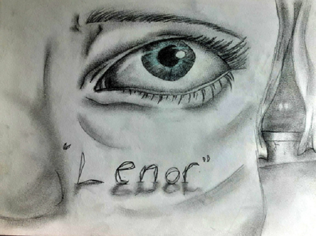 An eye with the word Lenor etched below it.