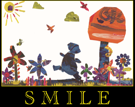Collage with the word Smile