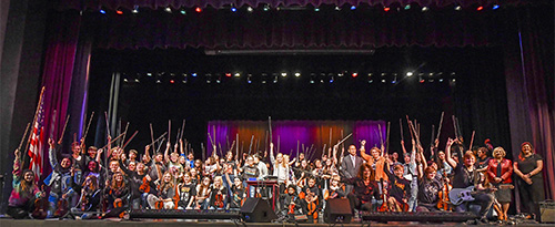 Photo of symphony with Mark Woods
