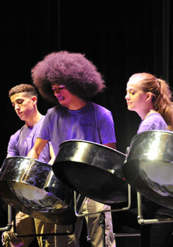 Photo of Students Performing in Jovert, Tucson High's Steel Drum Band