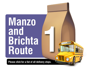 Manzo and Brichta Route - Please click here for a list of all delivery stops