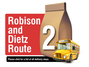 Robison and Dietz Route - Please click here for a list of all delivery stops