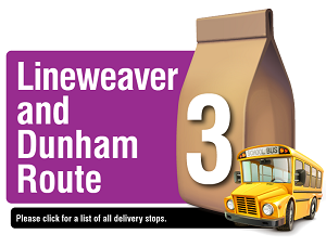 Lineweaver and Dunham Route - Please click here for a list of all delivery stops