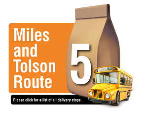 Miles and Tolson Route - Please click here for a list of all delivery stops