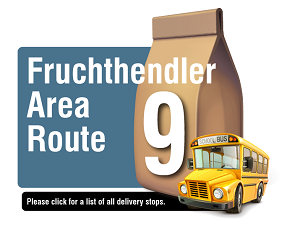 Fruchthendler Area Route - Please click here for a list of all delivery stops