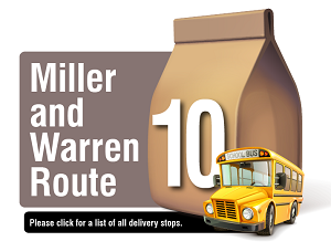 Miller and Warren Route - Please click here for a list of all delivery stops
