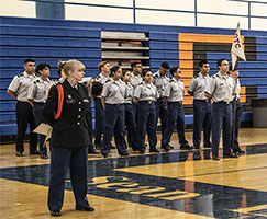 Photo of JROTC participants