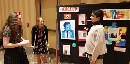 Photo of Mansfeld student at conference