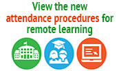 View the new remote learning attendance procedures