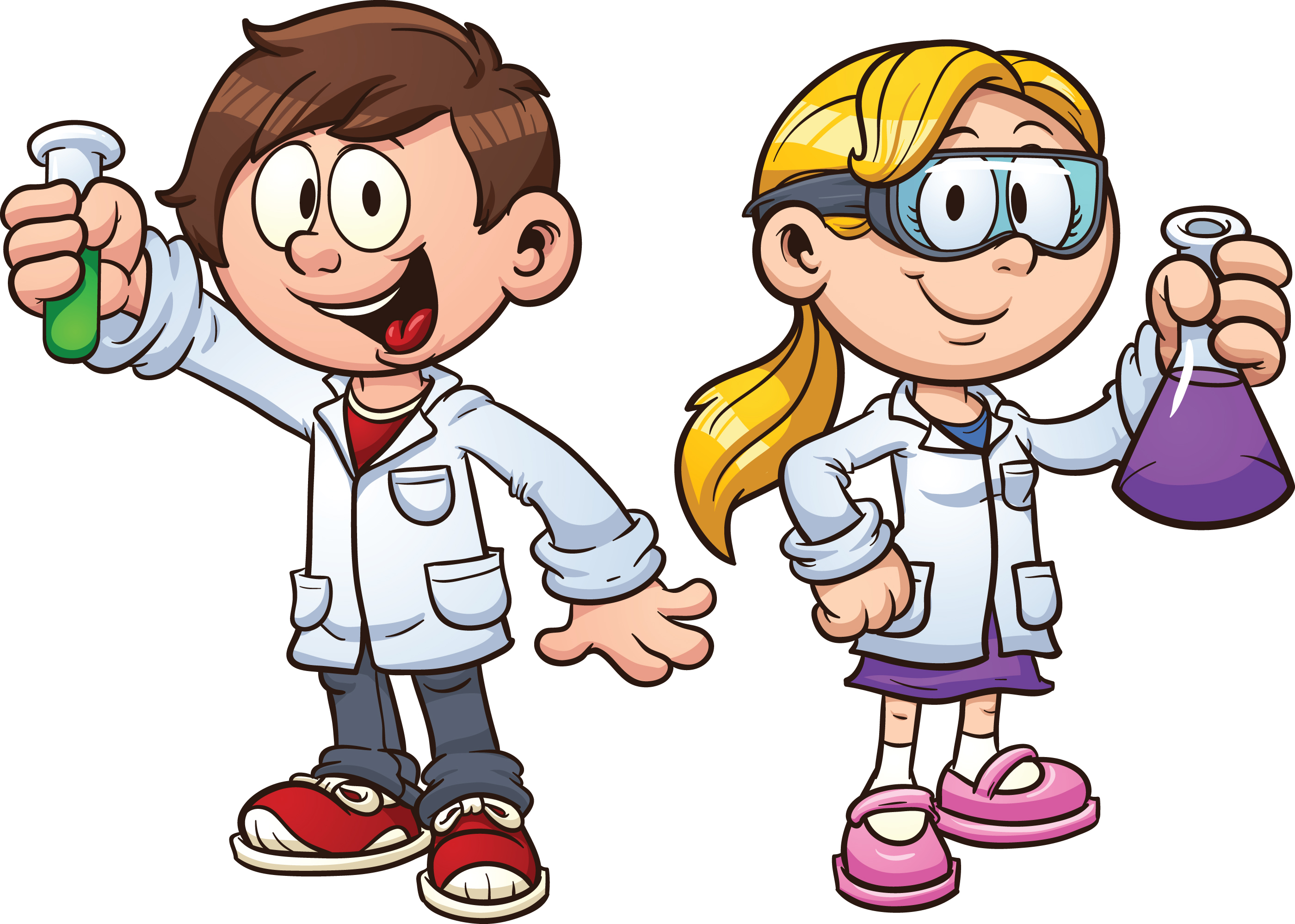 Cartoon of Science Kids
