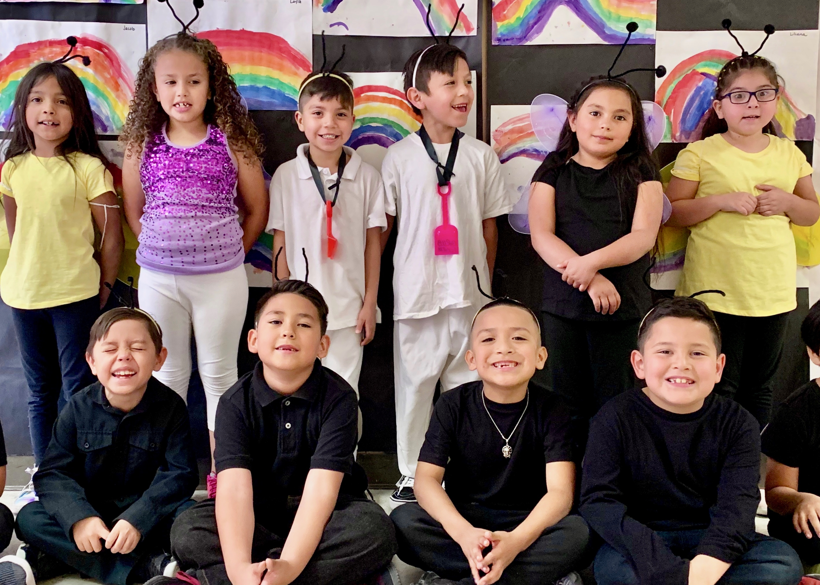 First grade actors group photo.