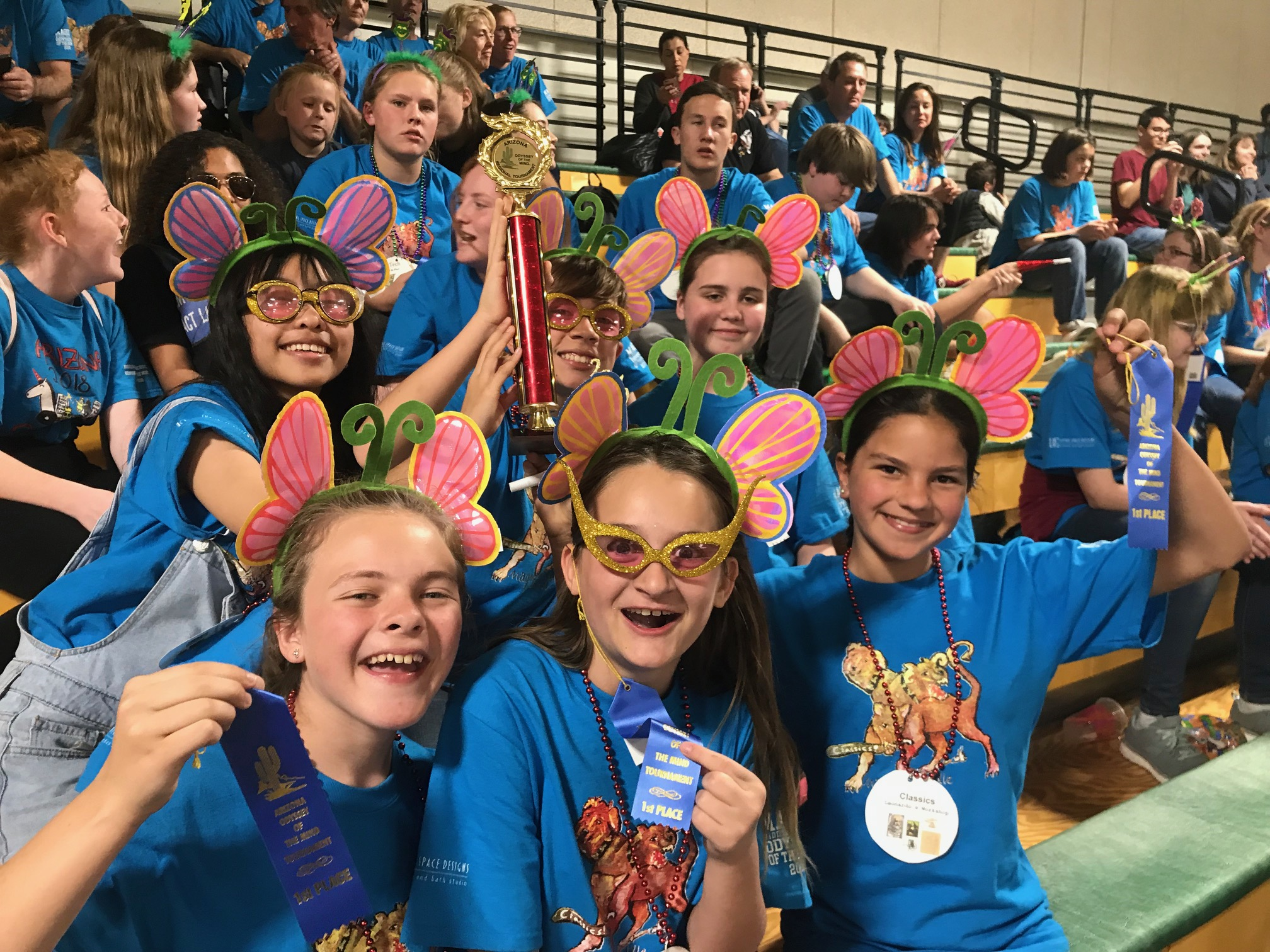 Magee Odyssey of the Mind team 3 at Regional competition