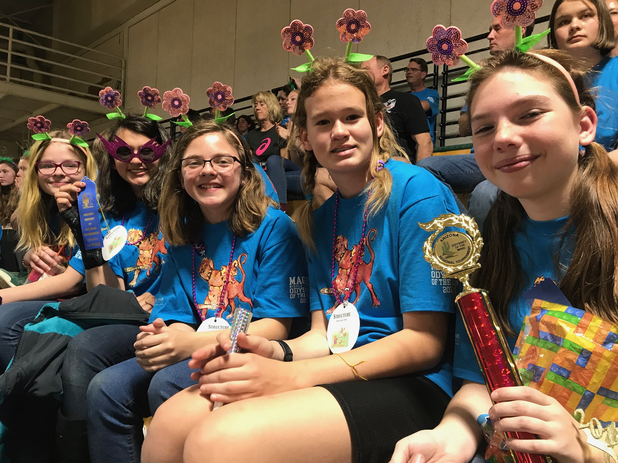 magee Odyssey of the Mind team 4 at Regional competition