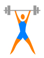 image of a weight lifter