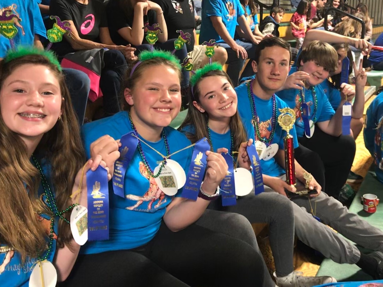 magee Odyssey of the Mind teams 2 and 5 at Regional competition