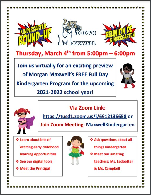Join us for Maxwell's Virtual Kindergarten Round Up!