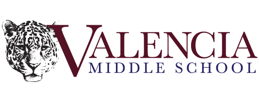 Valencia Middle School with jaguar head logo