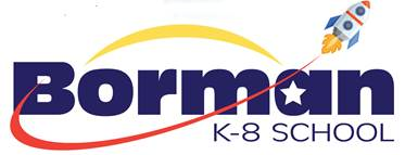 Borman K-8 Rocket Logo