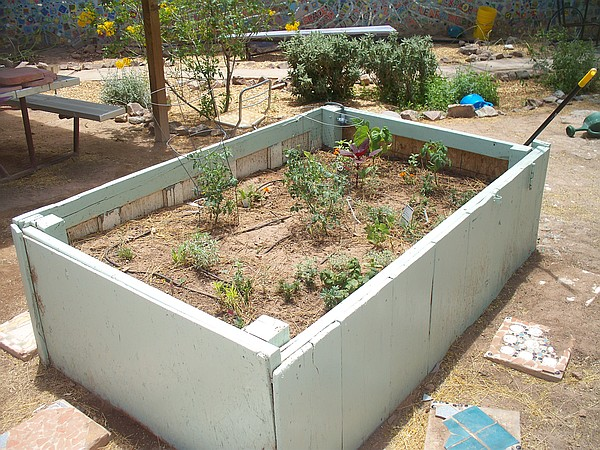 Planter box with flowers