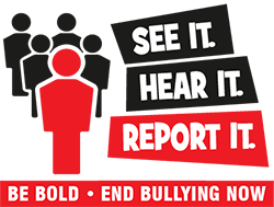 See it. Hear it. Report it. Be bold - end bullying now