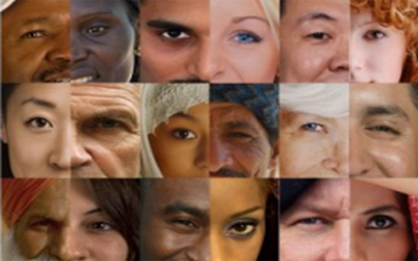 collage of culturally diverse eyes and faces