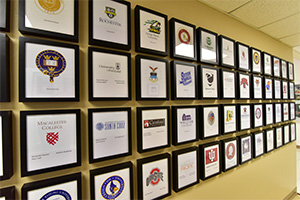 Photo of Plaques of Universities students attend